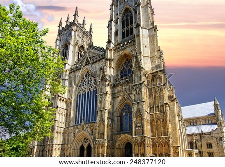 Cathedral in York UK - stock photo