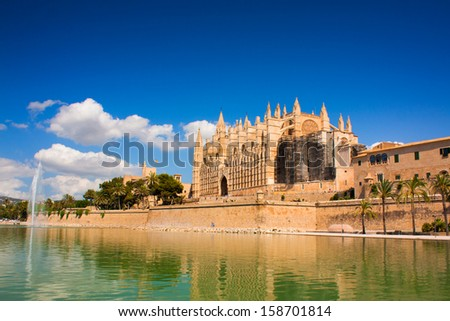 Cathedral La Seu in Palma de Mallorca - stock photo
