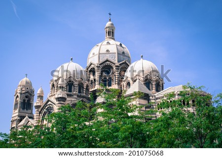 Cathedral major in marseille - stock photo