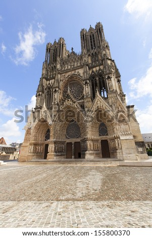 Cathedral Notre Dam, Riems, France, Europe.  - stock photo