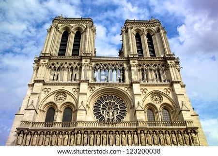 Cathedral Notre Dame de Paris, France - stock photo