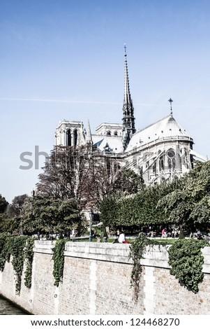 Cathedral Notre Dame de Paris, France, Europe ( HDR image ) - stock photo