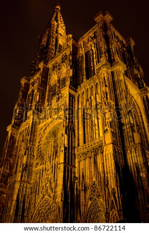 Cathedral Notre Dame, Strasbourg, Alsace, France - stock photo