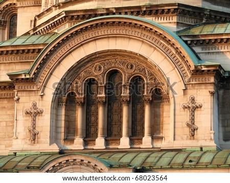 Cathedral of Alexander Nevski. Sofia, Bulgaria - stock photo