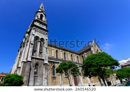 Cathedral of aviles in Asturias, Spain - stock photo