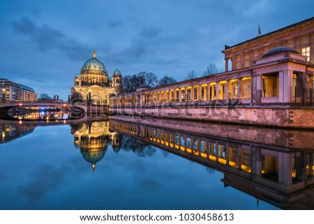 Cathedral of Berlin, Germany at night