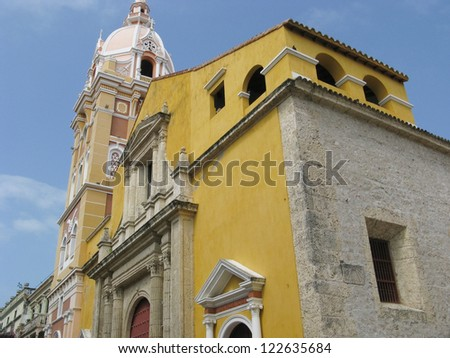 Cathedral of Cartagena de Indias (Colombia) - stock photo