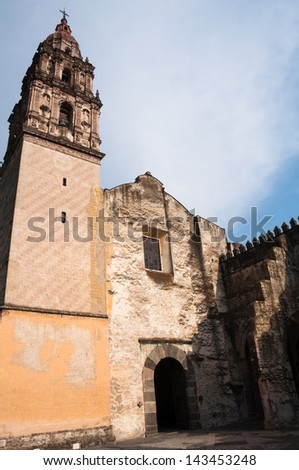 Cathedral of Cuernavaca (Mexico) - stock photo