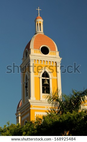 Cathedral of Granada, Nicaragua  - stock photo