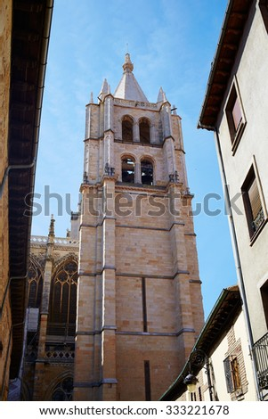 Cathedral of Leon in Castilla at Spain