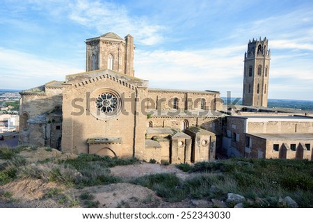 Cathedral of Lleida (La Seu vella).Catalonia.Spain  - stock photo