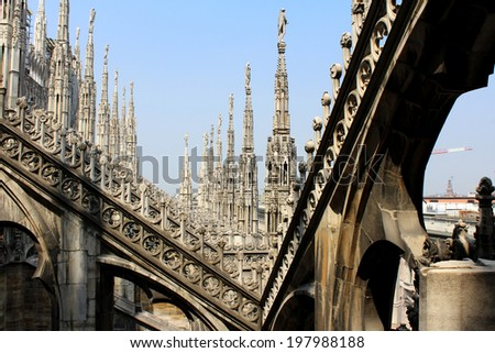 Cathedral of Milan, Duomo di Milano, Saint Mary Nascent, Italy - stock photo