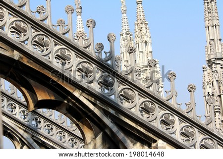 Cathedral of Milan, Duomo di Milano, Saint Mary Nascent, Italy - stock photo