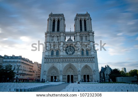 Cathedral of Notre-Dame,Paris - stock photo