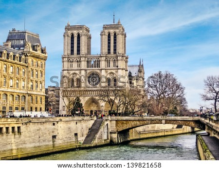 Cathedral of Notre Dame, Paris, France - stock photo