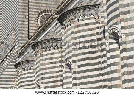 Cathedral of Orvieto. Umbria. Italy. - stock photo