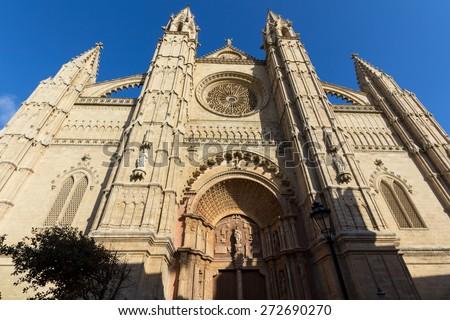 Cathedral of Palma de Mallorca - stock photo