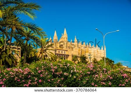 Cathedral of Palma de Mallorca.  - stock photo
