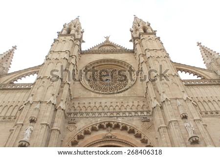 Cathedral of Palma, View of Palma de Mallorca, Spain. Mallorca Island - stock photo