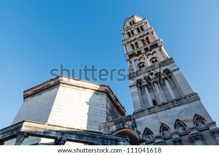 Cathedral of Saint Duje Bell Tower, Split, Croatia - stock photo