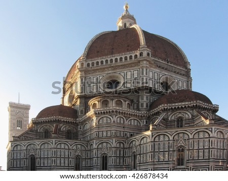 Cathedral of Saint Mary of the Flower in Florence, Italy - stock photo