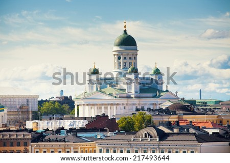 Cathedral of Saint Nicholas in Helsinki, Finland - stock photo