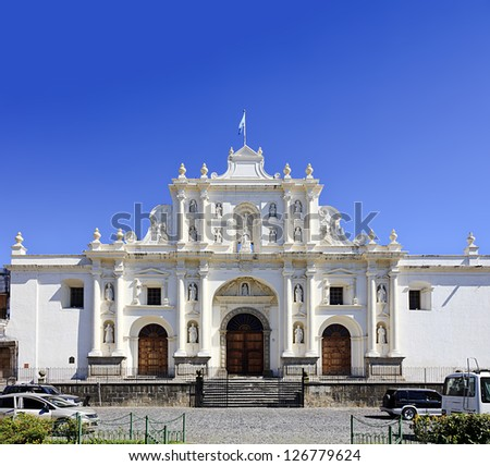 Cathedral of San Jose in Antigua, Guatemala - stock photo