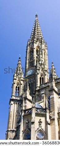 Cathedral of San Sebastian-Basque Country - stock photo