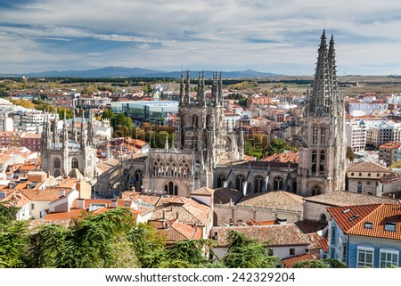 Cathedral of Santa Maria, Burgos, Castilla, Spain. - stock photo