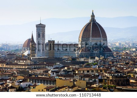 Cathedral of Santa Maria del Fiore - stock photo