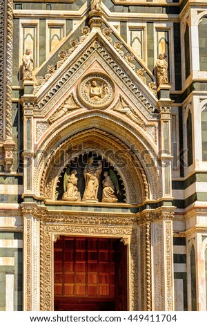 Cathedral of Santa Maria del Fiore in Tuscany, Florence, Italy. - stock photo