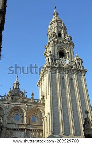 Cathedral of Santiago de Compostela, Spain - stock photo