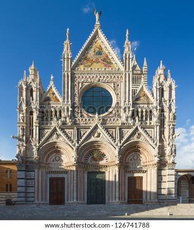 Cathedral of Siena, Tuscany, Italy - stock photo