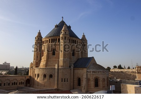 Cathedral of St. Jacob in the Old City of Jerusalem.