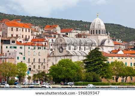 Cathedral of St. James in Sibenik, Croatia. UNESCO World Heritage Site