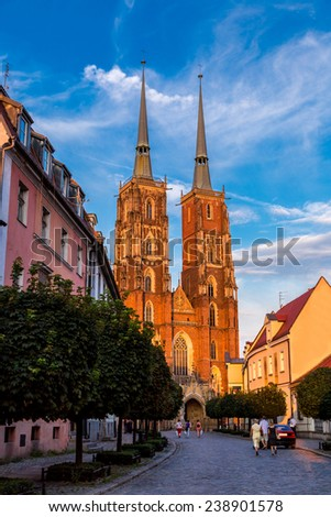 Cathedral of St. John in Wroclaw, Poland - stock photo