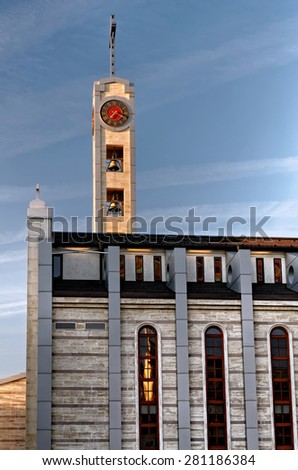 Cathedral of St Joseph is a Roman Catholic cathedral in Sofia, the capital of Bulgaria. It is the co-cathedral of the Diocese of Sofia and Plovdiv. - stock photo