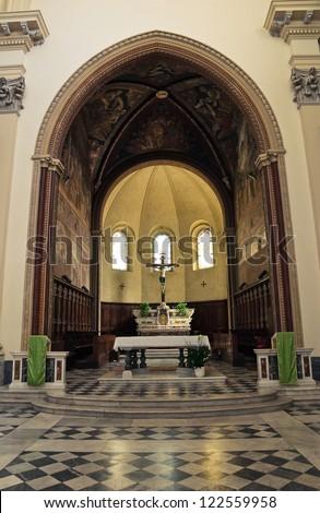 Cathedral of St. Margherita.Tarquinia. Lazio. Italy. - stock photo