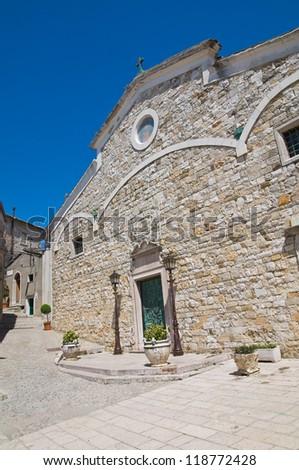 Cathedral of St. Nicola. Sant'Agata di Puglia. Puglia. Italy. - stock photo