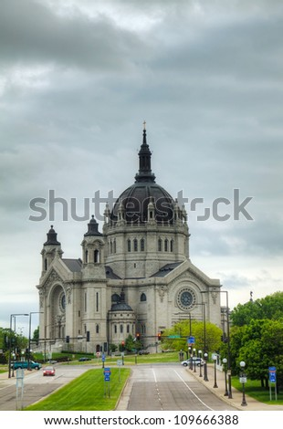 Cathedral of St. Paul, Minnesota - stock photo