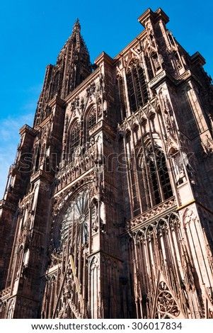 Cathedral of Strasbourg - stock photo