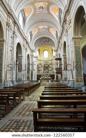 Cathedral of Sutri. Lazio. Italy.