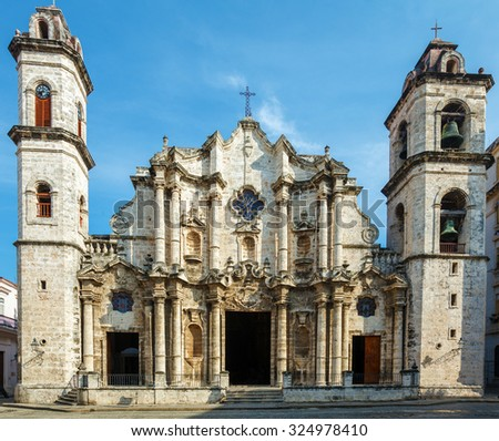 Cathedral of The Virgin Mary of the Immaculate Conception (1748-1777), Havana, Cuba - stock photo