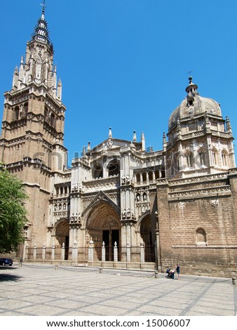 Cathedral of Toledo, Spain - stock photo