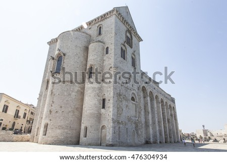 Cathedral of Trani on the sea in the province of Bari