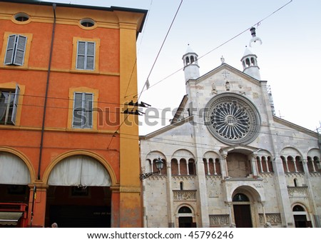 Cathedral, Piazza Grande, Modena, Italy - stock photo