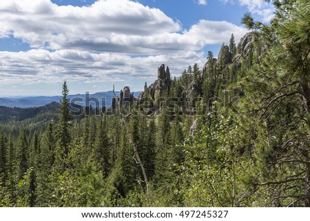 Cathedral Spires Black Hills Scenic
