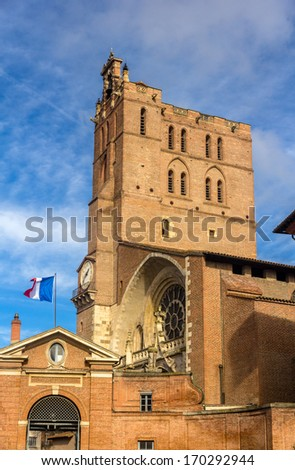 Cathedral St. Etienne of Toulouse - France - stock photo