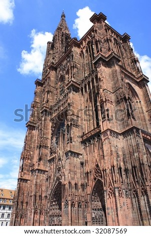 Cathedral, Strasbourg - stock photo