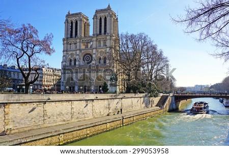 Cathedrale Notre Dame de Paris                           - stock photo